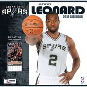"San Antonio Spurs Kawhi Leonard 2018 12"" x 12"" Player Wall Calendar (18998012083)"