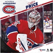 "Montreal Canadiens Carey Price - Bilingual French/English 2018 12""X12"" Player Wall Calendar (18998012098)"