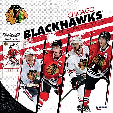 Chicago Blackhawks 2018 Mini Wall Calendar (18998040584)