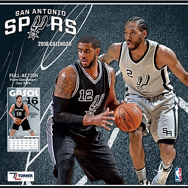 San Antonio Spurs 2018 Mini Wall Calendar (18998040598)
