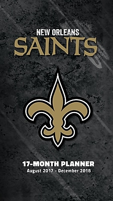New Orleans Saints 2017-18 17-Month Planner (18998890551)