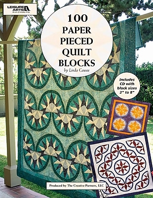 Leisure Arts 100 Paper Pieced Quilt Blocks (LA-4644)
