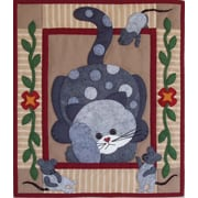"Rachel's Of Greenfield Spotty Cat Wall Quilt Kit 15""X13"" (K0509)"