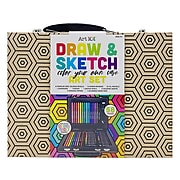Art 101 Classic Drawing Kit, Brown, 58 Pieces (55058)