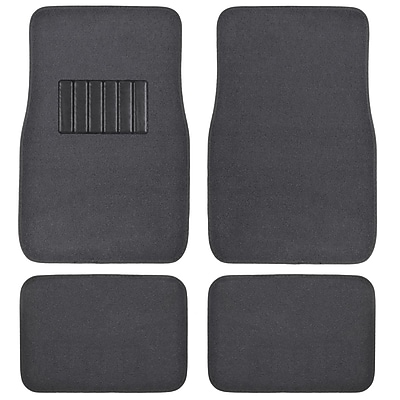 BDK Classic Carpet Floor Mats for Car, SUV & Truck - Universal Fit -Front & Rear with Heelpad, Charcoal (MT-100-CC)