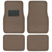 BDK Classic Carpet Floor Mats for Car, SUV & Truck - Universal Fit -Front & Rear with Heelpad, Dark Beige (MT-100-DB)