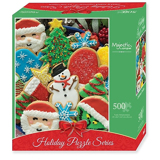 Springbok Puzzles Christmas Cookies 500 Piece Jigsaw Puzzle - (Compact-Box  Format) (72-01529)