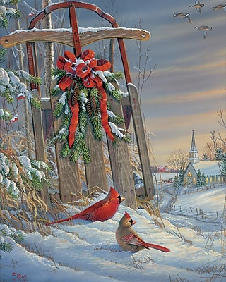 Springbok Puzzles Winter Red Birds 1000 Piece Jigsaw Puzzle (34-10724)