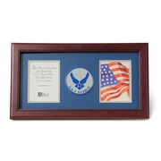 "U.S. Flag Store Air Force (Wings) 8"" x 16"" Mahogany Wood Dual Frame (83-38013)"