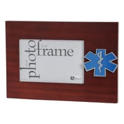 "U.S. Flag Store Emergency Medical Service 4"" x 6"" Mahogany Wood Medallion Frame (83-38509)"