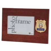 "U.S. Flag Store Police Officer 4"" x 6"" Mahogany Wood Medallion Frame (83-385078)"