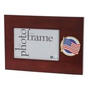 "U.S. Flag Store US Flag 4"" x 6"" Mahogany Wood Medallion Frame (83-38606)"