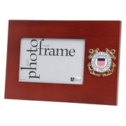 "U.S. Flag Store Coast Guard 4"" x 6"" Mahogany Wood Medallion Frame (83-386047)"