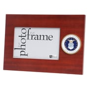 "U.S. Flag Store Air Force (Crest) 4"" x 6"" Mahogany Wood Medallion Frame (83-386030)"