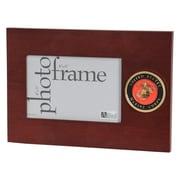 "U.S. Flag Store Marine Corps 4"" x 6"" Mahogany Wood Medallion Frame (83-386023)"