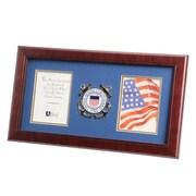 "U.S. Flag Store Coast Guard 8"" x 16"" Mahogany Wood Dual Frame (83-380042)"