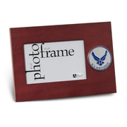 "U.S. Flag Store Air Force (Wings) 4"" x 6"" Mahogany Wood Medallion Frame (83-38613)"