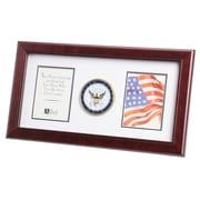 "U.S. Flag Store Navy 8"" x 16"" Mahogany Wood Dual Frame (83-380011)"