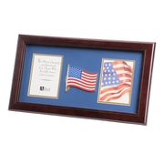 "U.S. Flag Store US Flag 8"" x 16"" Mahogany Wood Dual Frame (83-38006)"