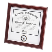 "U.S. Flag Store Navy 12"" x 12"" Mahogany Wood Certificate Frame (83-384019)"