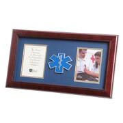 "U.S. Flag Store Emergency Medical Service 8"" x 16"" Mahogany Wood Dual Frame (83-380103)"