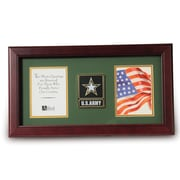 "U.S. Flag Store Go Army 8"" x 16"" Mahogany Wood Dual Frame (83-38011)"