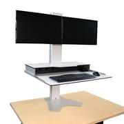 RightAngle Hover Helium Desk Converter for Dual Monitors White Phelonic (HHBHMD2428SW)