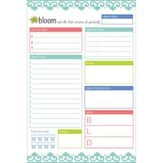"""Bloom Daily Planners Teal Daily Planning System Pad, 6"""" x 9"""" (MNRCYN)"""