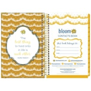 "Bloom Daily Planners Vintage Floral Contacts Book, 8.25"" x 6"" (X000YZAV)"