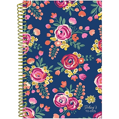 Bloom Daily Planners Vintage Floral Bound To Do Book, 8.25