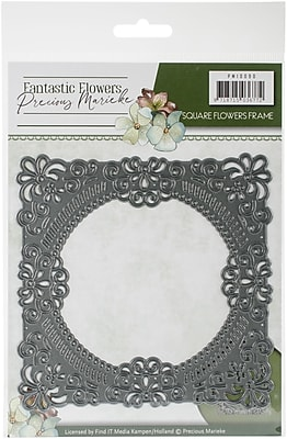 Find It Trading Square Flowers Frame Precious Marieke Fantastic Flowers Die (PM10090)
