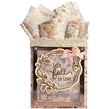 Sizzix Let's Fall In Love Framelits Die & Stamp Set By Lindsey Serata, 7/Pkg (662273)