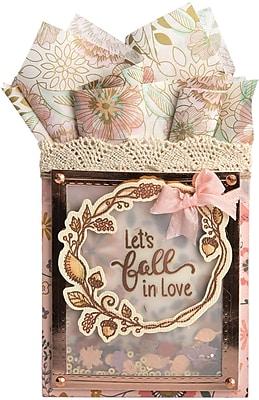 Sizzix Let's Fall In Love Framelits Die & Stamp Set By Lindsey Serata, 7/Pkg (662273)