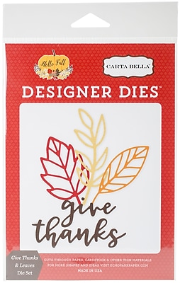 Echo Park Paper Give Thanks & Leaves Carta Bella Dies (HF70041)