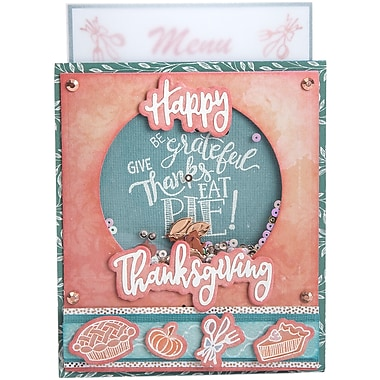 Sizzix Give Thanks, Eat Pie Framelits Die & Stamp Set By Lindsey Serata, 8/Pkg (662272)