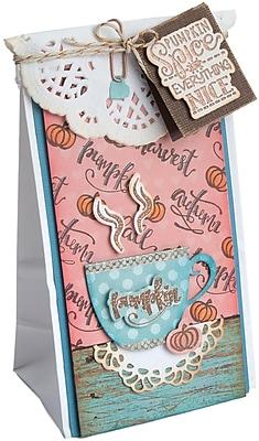 Sizzix Pumpkin Spice & Everything Nice Framelits Die & Stamp Set By Lindsey Serata, 7/Pkg (662271)