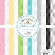 """Doodlebug Kitten Smitten Petite Prints Double-Sided Cardstock, 12"""" x 12"""", 12/Pk (KS5290)"""