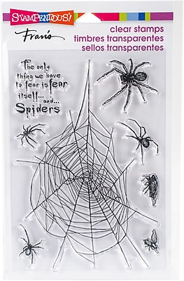 Stampendous Spider Fear Perfectly Clear Stamps 7.25