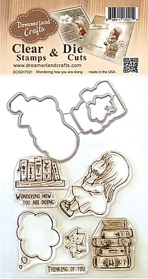 Dreamerland Crafts Wondering How You Are Doing Clear Stamp & Die Set, 4