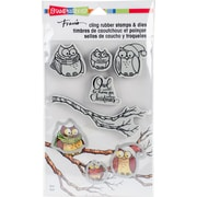 """Stampendous Owl Be Home Cling Stamp & Die Set 9""""X5.25"""" (CLD10)"""