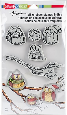 Stampendous Owl Be Home Cling Stamp & Die Set 9
