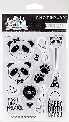 Photo Play Paper Panda Party Cake Polymer Stamps (CPP2916)