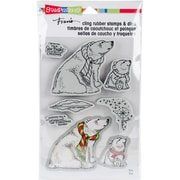 """Stampendous Polar Bears Cling Stamp & Die Set 9""""X5.25"""" (CLD07)"""