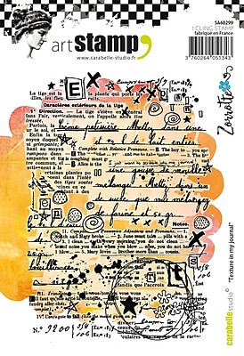Carabelle Studio Texture In My Journal Cling Stamp A6 By Zorrotte (SA60299)