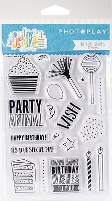 Photo Play Paper Elements Cake Polymer Stamps (CK2913)