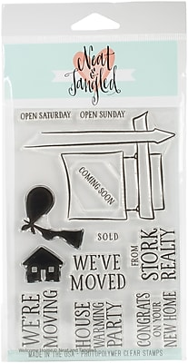 Neat & Tangled Welcome Home Clear Stamps, 4