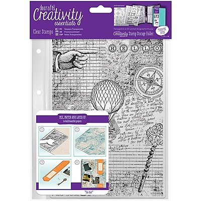 Docrafts Steampunk Creativity Essentials A5 Clear Background Stamp (CE907128)