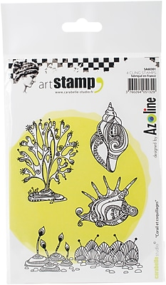 Carabelle Studio Coral & Shells Cling Stamp A6 By Azoline (SA60301)