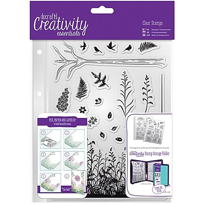 Docrafts Forest Creativity Essentials A5 Clear Stamp Set, 20/Pkg (CE907114)