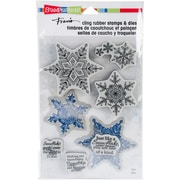 """Stampendous Winter White Cling Stamp & Die Set 9""""X5.25"""" (CLD05)"""